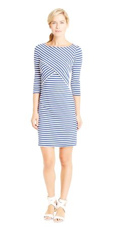 Drea Dress in Bangle Stripe, pair with Jack Rogers or Gladiator Sandals.