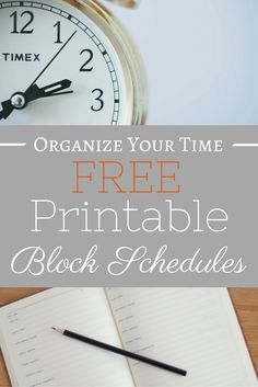 Maximize your time management with these FREE printable block schedules! via @momismore Work From Home Opportunities, Work From Home Tips, Make Money From Home, How To Make Money, Organisation Hacks, Organising Tips, Organizing Clutter, Block Scheduling, Flow State