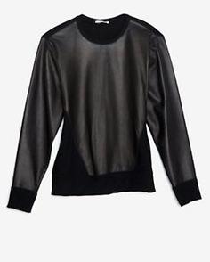 Helmut Lang Ink Leather Sweatshirt
