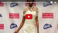 MFS-Viral Vids: These gorgeous wedding dresses are made out of toilet paper