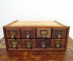 antique oak drawers