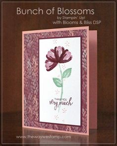 www.thewaywestamp.com Bunch of Blossoms and Blooms and Bliss DSP by Stampin' Up! #GDP057 #stampinup #bunchofblossoms #juliedeguia