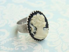 I love old antique style cameo jewelry