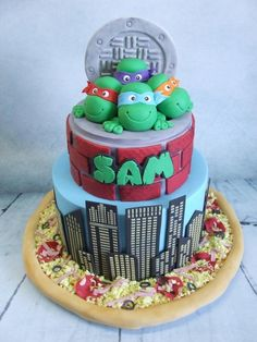 Sam's Ninja Turtle Cake! - Cake by Cake A Chance On Belinda