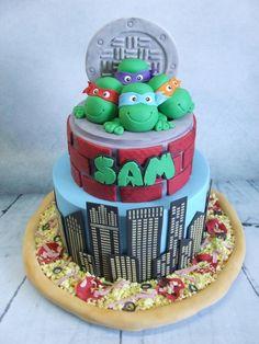 Sam's Ninja Turtle Cake! - Cake by Cake A Chance On Belinda