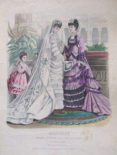 October, 1874 - Wedding dress - Budapesti Bazárra