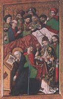 Fejfedő (Szent Mária Magdolna mennybevitele-oltár, Berki) 03 - Hagyomány és múltidéző