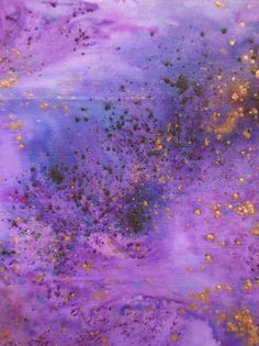 Brusho paint in violet and purple, mixed with copper Pixie Powder