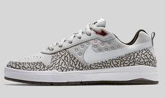 Nike Air Jordan X SB Paul Rodriguez 9 Elite QS SZ 9 PROD White Cement 828037-016