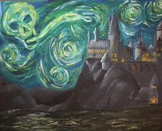 Harry Potter Starry Night Poster by AllieWonder on Etsy, $17.00