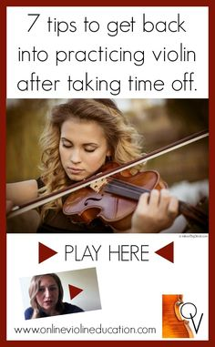 7 Tips to get back into practicing after taking time off.