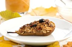 Roasted Pears - Paleo Version: Skip the oats, add more variety of nuts (ie. pecans) sub honey or agave in for brown sugar.