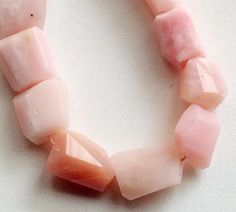 Pink Opal Peruvian Pink Opal Faceted Step Cut by gemsforjewels