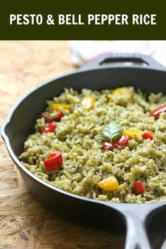 A simple yet flavourful one pot meal. A perfect option for your weeknight dinner! #pestorice #onepotmeal #ruchikrandhap Indian Food Recipes, Italian Recipes, New Recipes, Vegetarian Recipes, Healthy Recipes, Easy Recipes, Healthy Food, Best Side Dishes, Side Dish Recipes