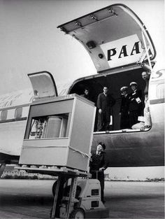 A 5-megabyte hard drive loaded onto a plane in 1956. The system, called a 305 RAMAC, cost $3,200 per month to lease. The Volume and Size of 5MB memory storage in 1956. In September 1956 IBM launched the 305 RAMAC, the first computer with a hard disk drive (HDD). The HDD weighed over a ton and stored 5MB of data.