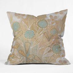 Cori Dantini Blue Floral Throw Pillow   DENY Designs Home Accessories