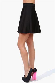 Rad Skater Skirt - Black