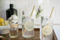 Lavender Lemon Tom Collins — All Purpose Flour Child Cocktail Recipes, Cocktails, Lavender Syrup, Tom Collins, Alcohol, Beverages, Drinks, Smoothies, Lemon