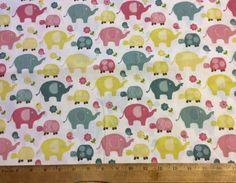 Sweet Meadow Friends Fabric cotton fabric by OmasFabricAndGifts