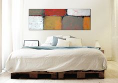 XL Abstract painting  Lots in Orange and red  door RonaldHunter, $399.00