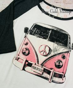 Who doesn't love the idea of a vintage VW bus?? This baseball tee has an awesome vintage feel to it with a screen printed graphic. Available in Charcoal/Off Wh