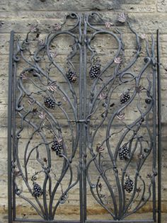 Custom Wine Room Gate, with Vines by Potter Art Metal Studios