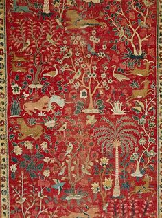 Carpet with pictorial design [Pakistan (Lahore)] (17.190.858) | Heilbrunn Timeline of Art History | The Metropolitan Museum of Art