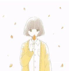 so simple but so pretty Kawaii Anime Girl, Kawaii Art, Anime Art Girl, Cartoon Drawings, Cute Drawings, Character Art, Character Design, Dibujos Cute, Cute Characters