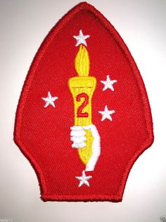 UNITED STATES MARINES 2ND DIVISION Military Veteran Hero Patch PM0662 EE