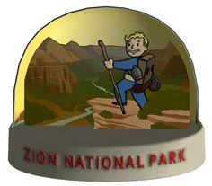 Fallout: New Vegas Zion National Park Snowglobe