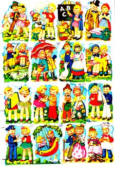 Paper scraps from Germany Vintage Baby Pictures, Vintage Images, Download Digital, Vintage Humor, Funny Vintage, Vintage Paper Dolls, Baby Kind, Vintage Greeting Cards, Coloring Book Pages
