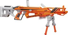 Nerf N-Strike Elite AccuStrike RaptorStrike. The Nerf N-Strike Elite RaptorStrike blaster is part of the AccuStrike Series, which features darts designed for greater accuracy. Hit the mark with the precision of the most accurate Nerf darts. Nerf Snipers, Beyonce Twin, Cool Nerf Guns, Nerf Darts, Nerf Toys, Digital Light, Shops, Toy Soldiers, Kids Toys