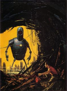 Ed Valigursky, Amazing Stories May 1958, Brother Robot - vintage science fiction art