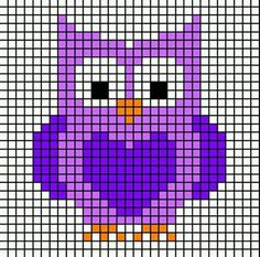 graphs perfect for Bobble, or your favorite grid crochet techniqueSimple graphs perfect for Bobble, or your favorite grid crochet technique Owls and Foxes and Coons-Oh My! Owl Perler Bead Pattern More Stitch Fiddle is an online crochet, . Cross Stitch Owl, Cross Stitch For Kids, Simple Cross Stitch, Cross Stitch Animals, Cross Stitch Charts, Cross Stitch Designs, Cross Stitching, Cross Stitch Embroidery, Embroidery Patterns