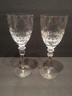 "Set of 2 Rogaska Crystal ""Gallia"" Water/Wine Goblets Glasses 9 1/4"" x 3 1/2"" NWT | Pottery & Glass, Glass, Glassware | eBay!"