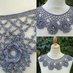 Crochet collar www.facebook.com/designsbysonya