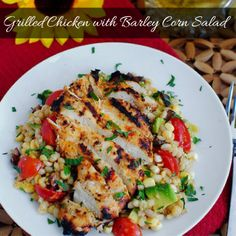 Grilled Chicken with Barley Corn Salad