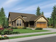 Craftsman House Plan Front of Home for Home Plan also known as the Longhurst Craftsman Ranch Home from House Plans and More. Bungalow House Plans, Craftsman Style House Plans, House Floor Plans, Craftsman Houses, Bungalow Ideas, House 2, Farm House, Tiny House, House Plans And More