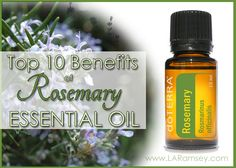 Top 10 Benefits of Rosemary Essential Oil I bet you thought rosemary was just an herb to use in cooking, didn't ya? Well, this wonderful herb when made into a pure essential oil has benefits that g...