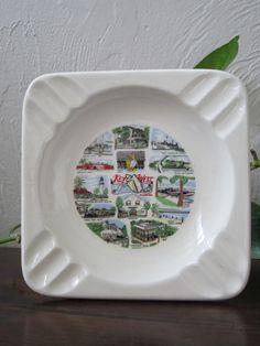 Vintage Key West Florida travel souvenir Ashtray by HugBandits, $5.00