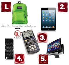 Head back to school with fab finds & essentials from RadioShack! + #Win a Apple® iPad mini® 16GB Black at http://www.onesavvymom.net