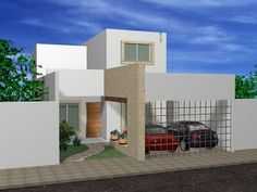 1000 images about fachadas casas on pinterest google for Casa moderna 7x15