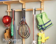 Garage Sports Equipment Organizer