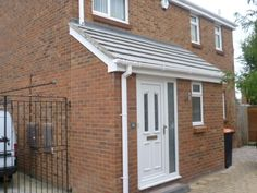 porch extension with toilet Porch With Toilet, Porch Extension With Toilet, Porch Uk, Porch Doors, Entrance Doors, Front Doors, Modern Front Porches, Small Porches, Upvc Porches