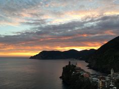 Sunset in my favorite place...Vernazza, Italy in the Cinque Terre National Park
