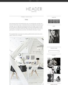 Blogger Template Premade Photography black Blog by AndysLogos, $28.00