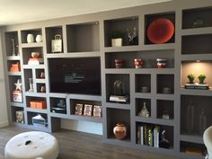 Contemporary freestanding media unit in Wandsworth | built ins ...