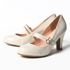 Madelina Double Strap Heels in Cream | Ruche | $35