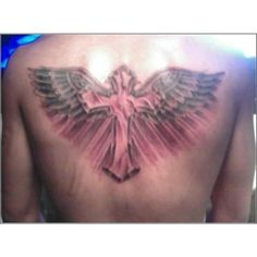 Cross tattoo Out;ine on Back