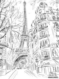 Street in paris -ske